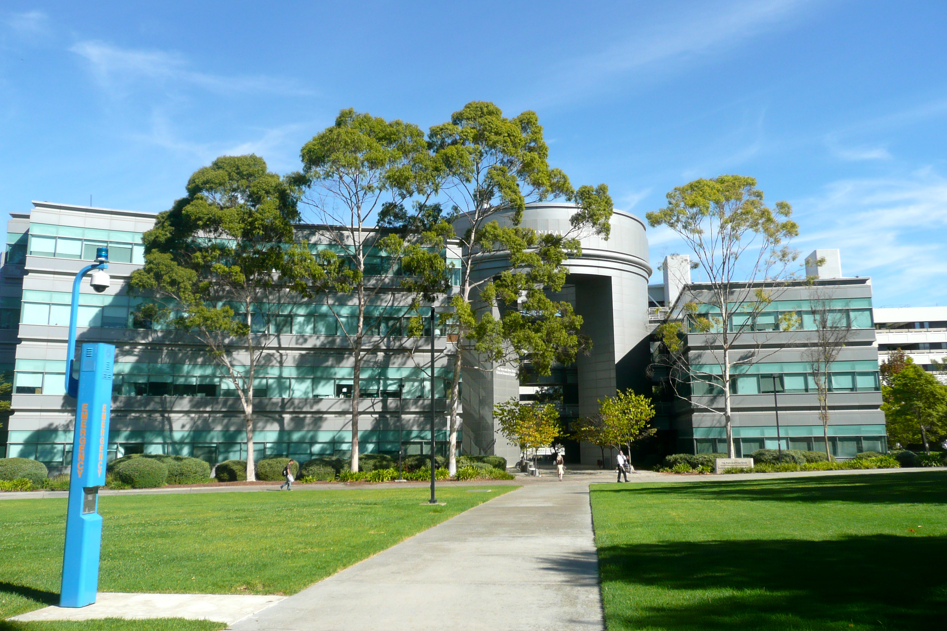 fancy research building on the school of medicines campus