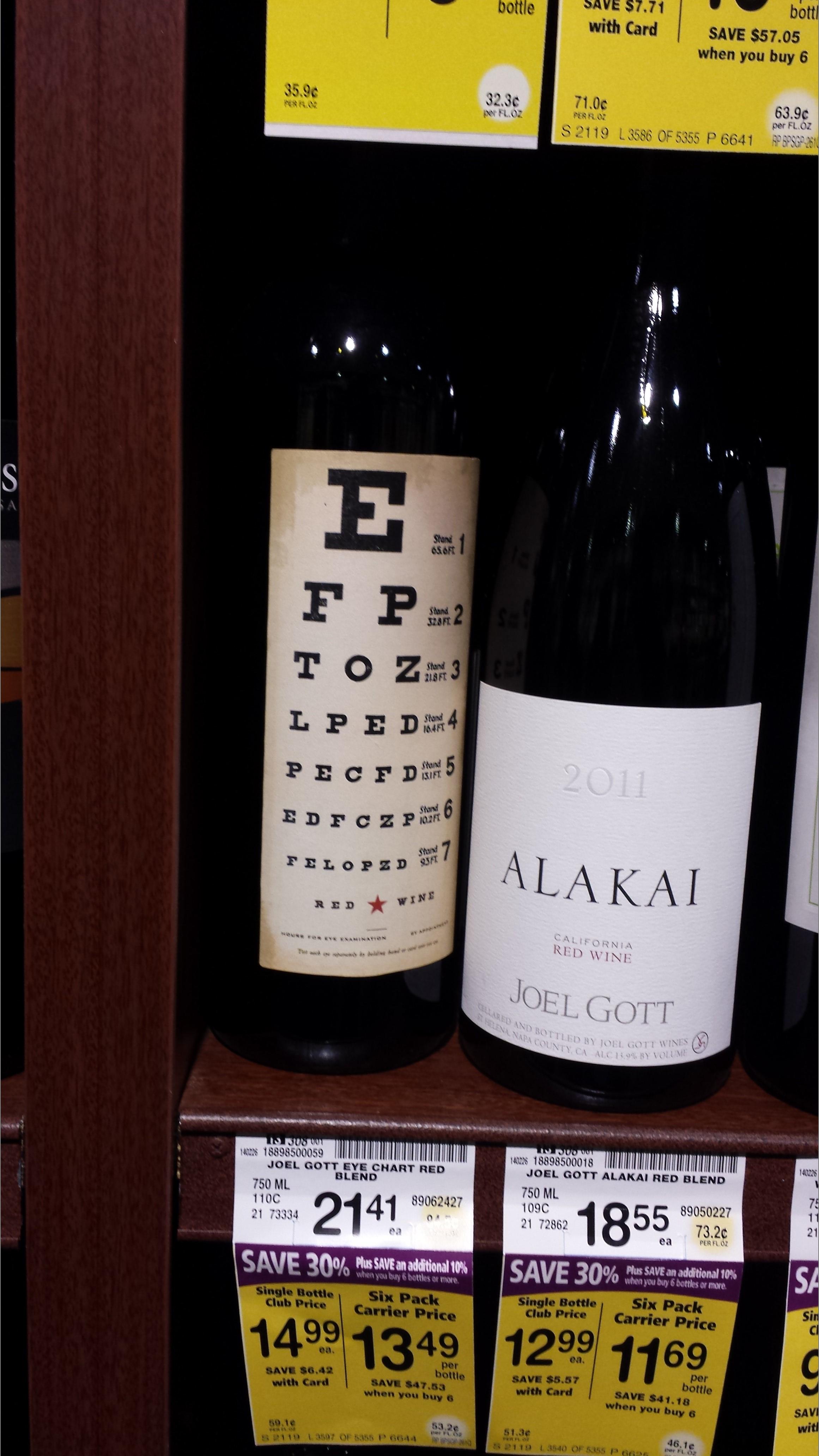 Pictures from spring break 2014 part 2 caltech still life eye chart on wine bottle geenschuldenfo Gallery