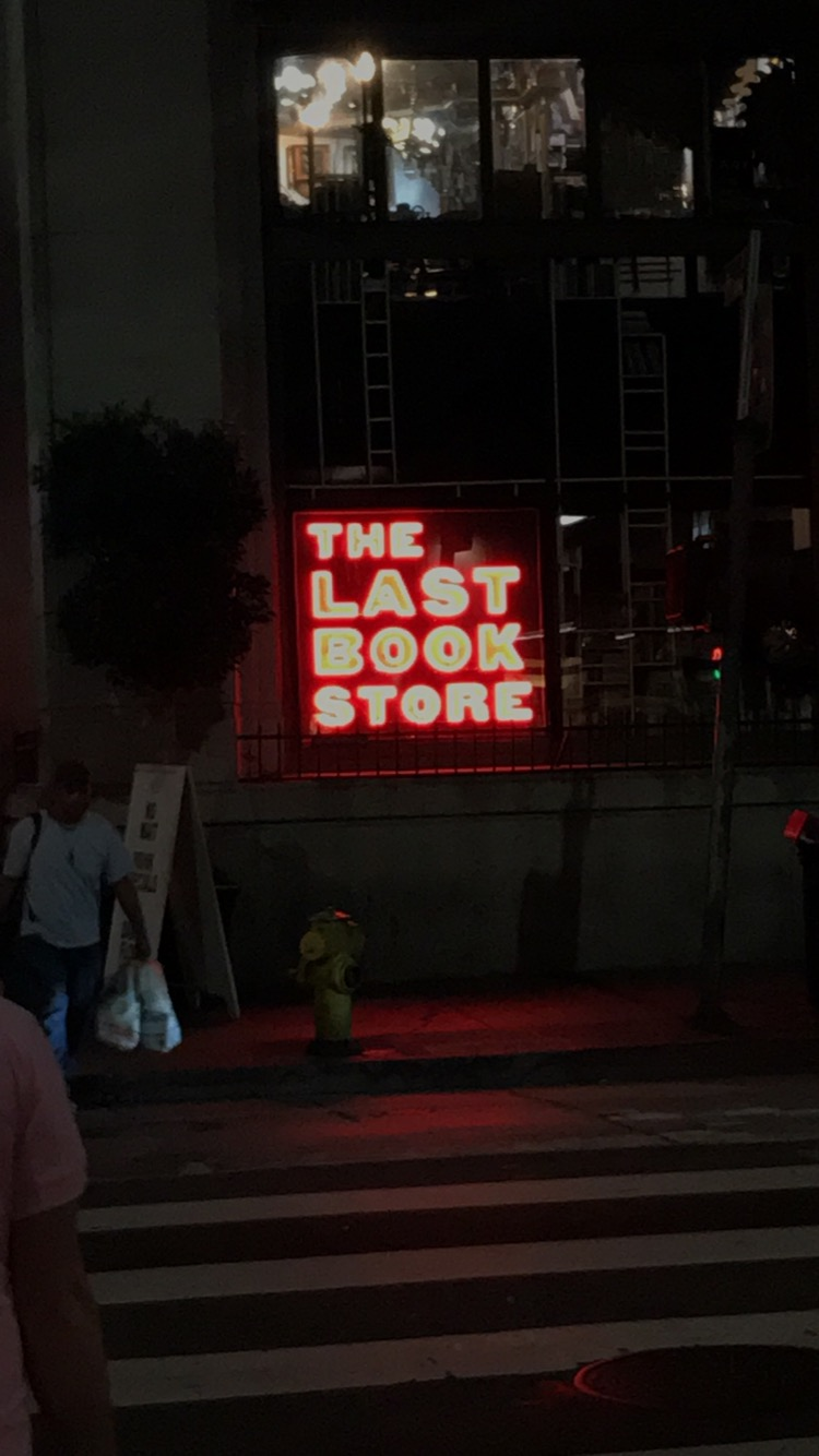 Last bookstore sign